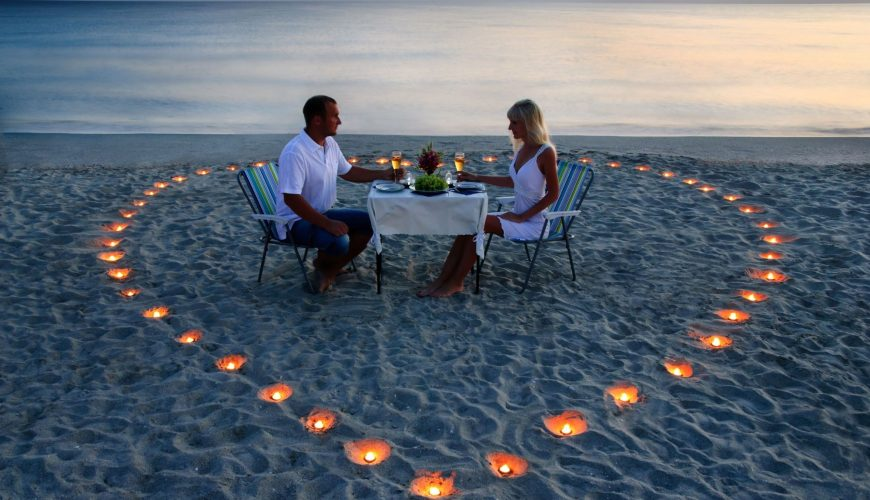diner a la plage lune de miel - vacances ile maurice
