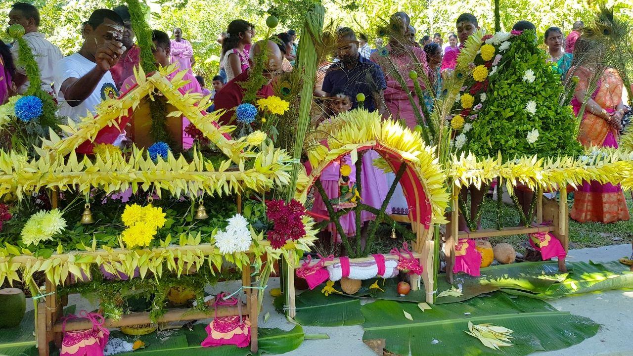 Cavadee, fête religieuse tamoule à l'île Maurice.